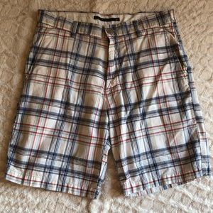 Nautica plaid shorts size 34w